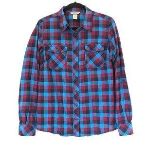 Duluth M Crosscut Wicking Flannel Shirt Blue Check